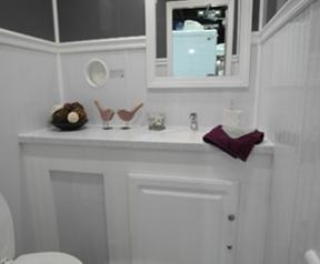 Shower and Restroom Trailer Rentals 3 Stall ADA Interior R - 3 Stall ADA Handicap Accessible Restroom Trailer