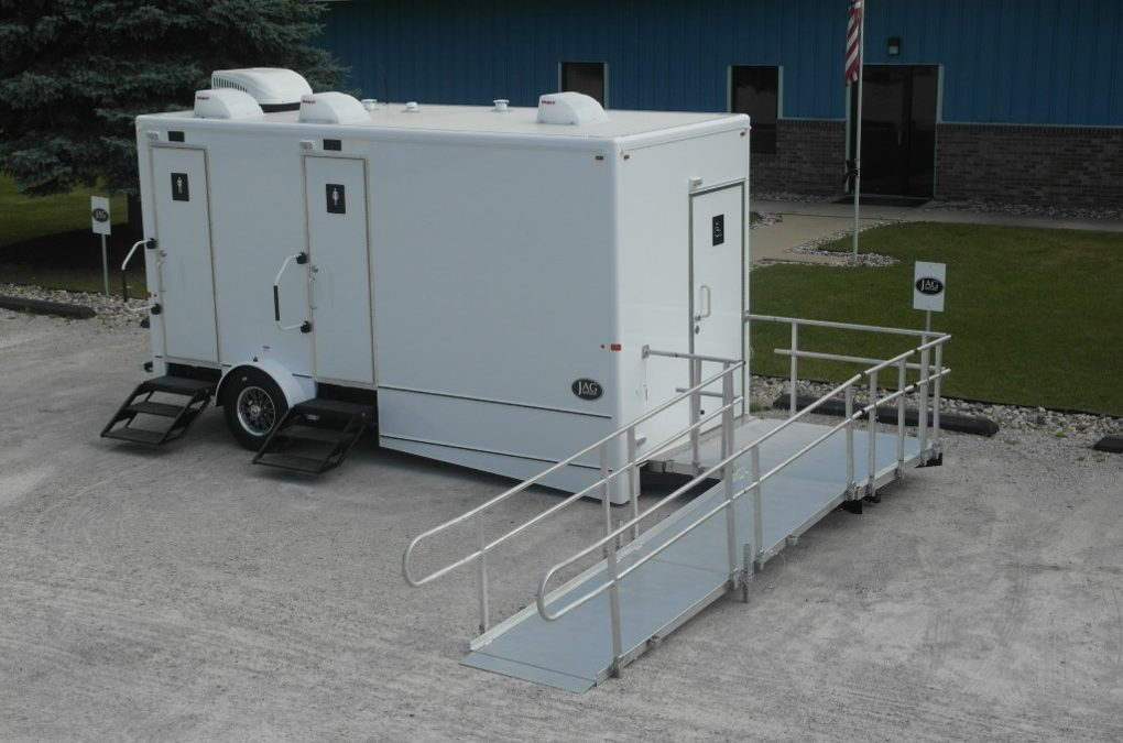 3 Stall Handicap Accessible Restroom Trailer