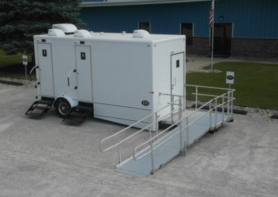 Shower and Restroom Trailer Rentals Exterior ADA Photo 400x284 - 10 Station Restroom Trailer