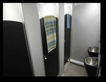 Shower and Restroom Trailer Rentals Shower Trailer Interior - Shower Trailers