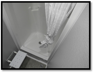Shower and Restroom Trailer Rentals Shower Trailer Interior2 - Shower Trailers