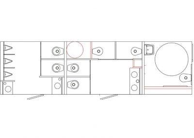 Shower and Restroom Trailer Rentals restroom trailers 10SADARTLayout 1 400x284 - Old Restroom Trailers