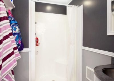 Shower and Restroom Trailer Rentals 18 Combo Gray Spa 1 400x284 - 3 Station Shower Trailer