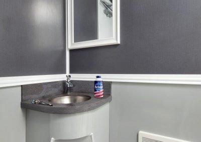 Shower and Restroom Trailer Rentals 18 Combo Gray Spa Sink 400x284 - 3 Station Shower Trailer