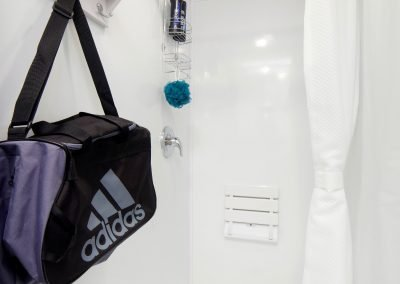 Shower and Restroom Trailer Rentals 28 Shower Trailer Interior 3 400x284 - 8 Station Shower Trailer