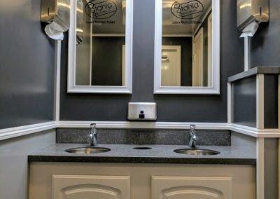 Shower and Restroom Trailer Rentals IMG 20170717 151209 400x284 - 10 Station ADA Handicap Accessible Restroom Trailer