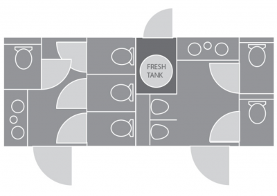 Shower and Restroom Trailer Rentals SS 8S RT Sat. Layout 400x284 - 8 Station Restroom Trailer
