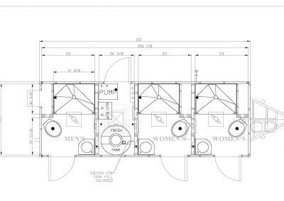 Shower and Restroom Trailer Rentals ST6X18 3 S3 scaled 1 400x284 - 3 Station Shower Trailer