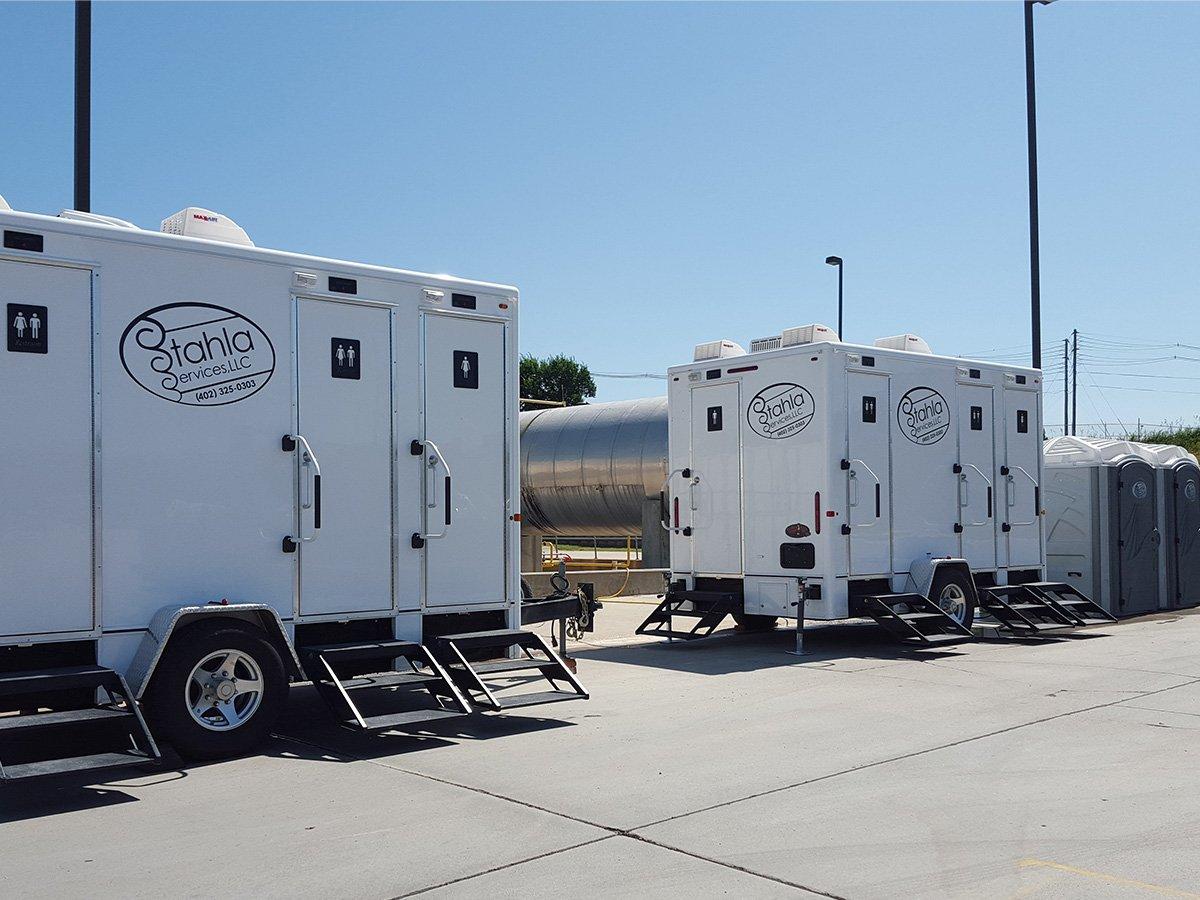 Shower and Restroom Trailer Rentals Stahla Restroom Trailer Four Stalls - Home
