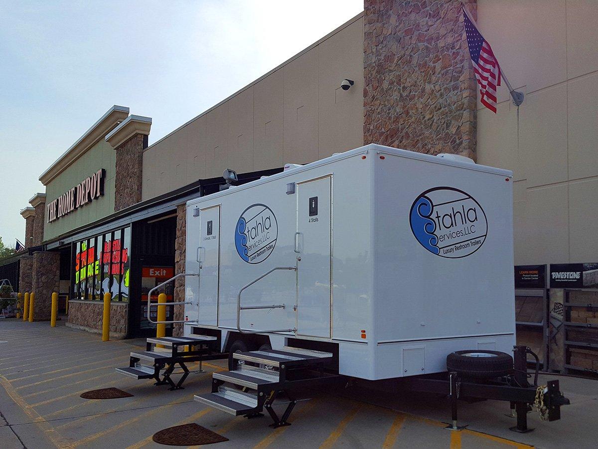Shower and Restroom Trailer Rentals Stahla Restroom Trailer Two Stalls - Home