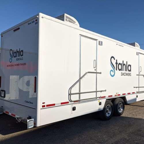 Shower and Restroom Trailer Rentals 8 station shower trailer 2 1 - What size of restroom trailer do I need?