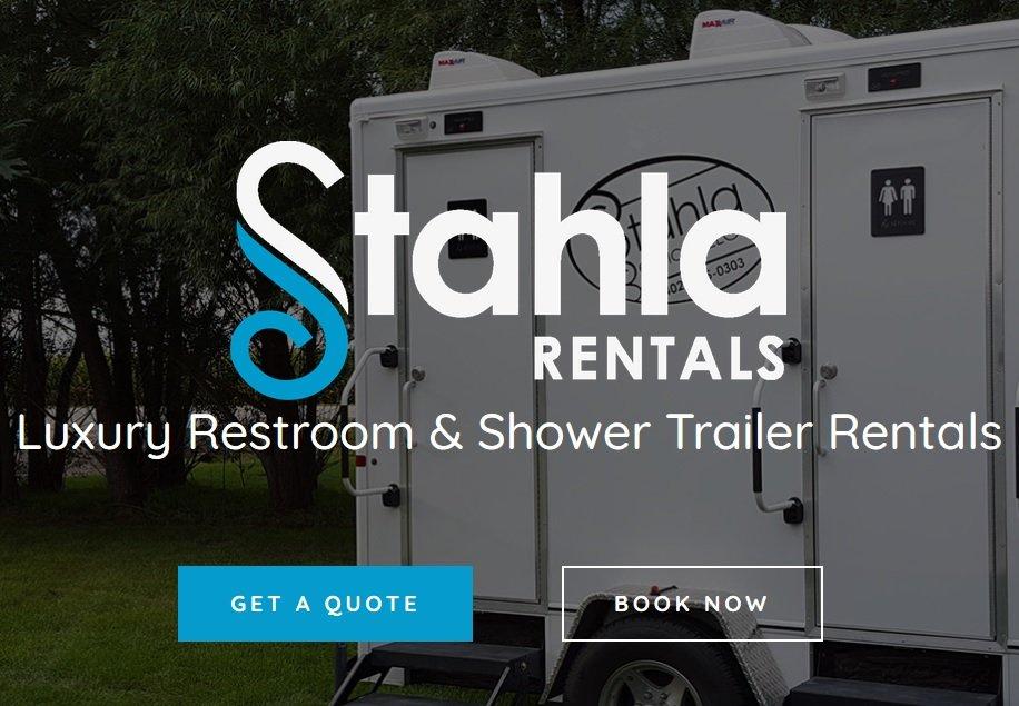 Shower and Restroom Trailer Rentals restroom trailer website - Why you'll feel good renting a restroom trailer for your event.