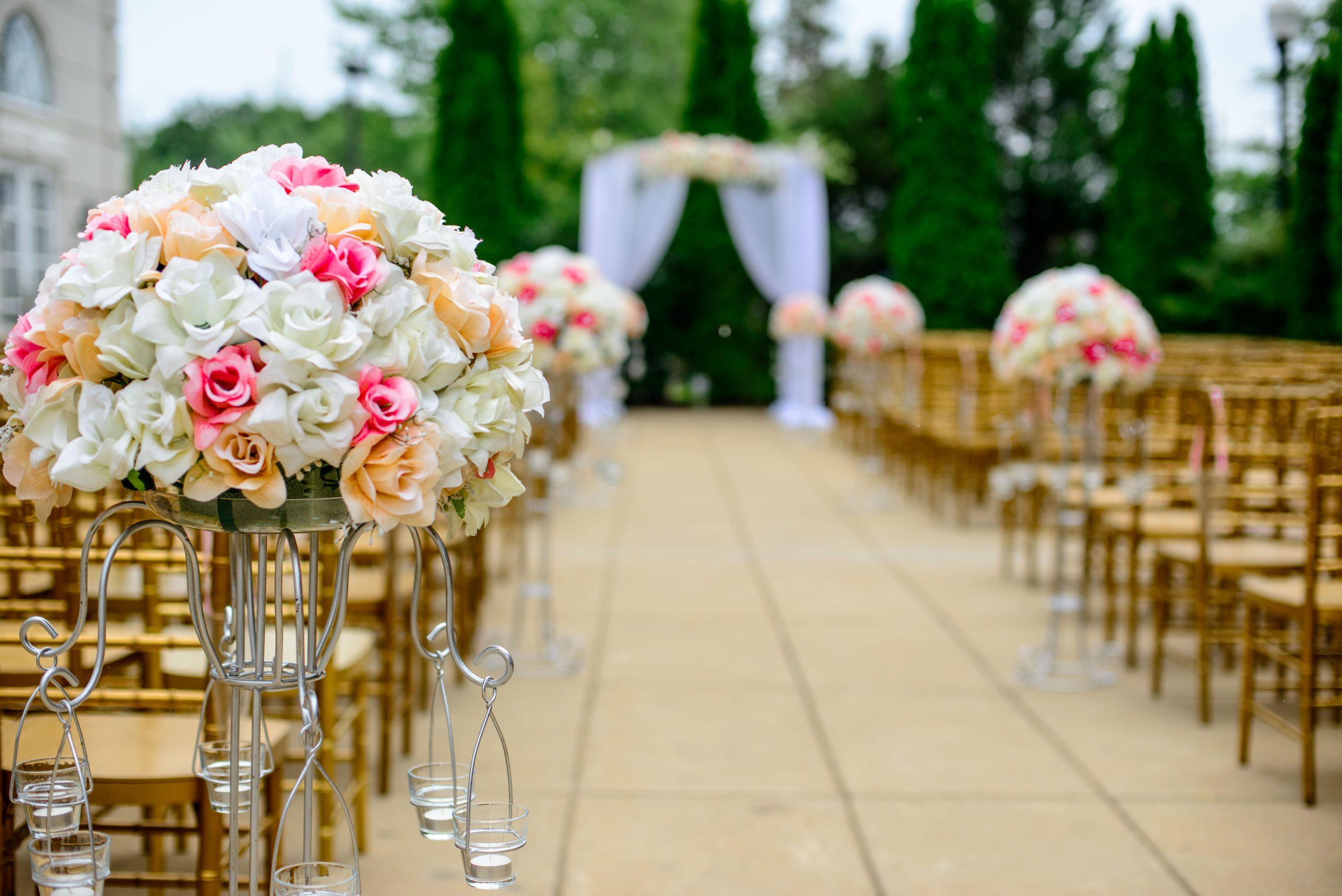 Shower and Restroom Trailer Rentals Outdoor wedding restroom trailer scaled - Weddings