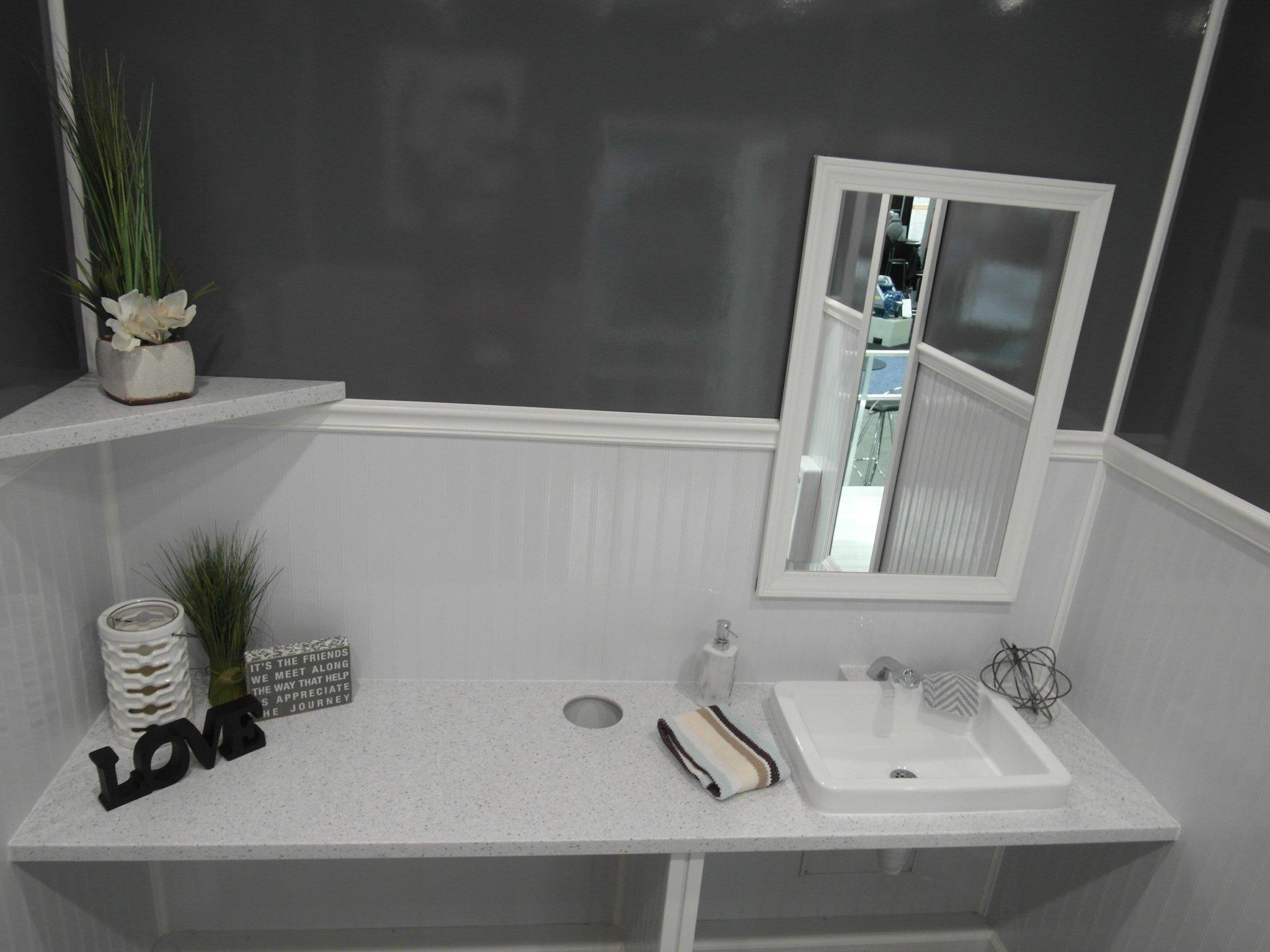 Shower and Restroom Trailer Rentals restroom trailer decor 2 - Businesses