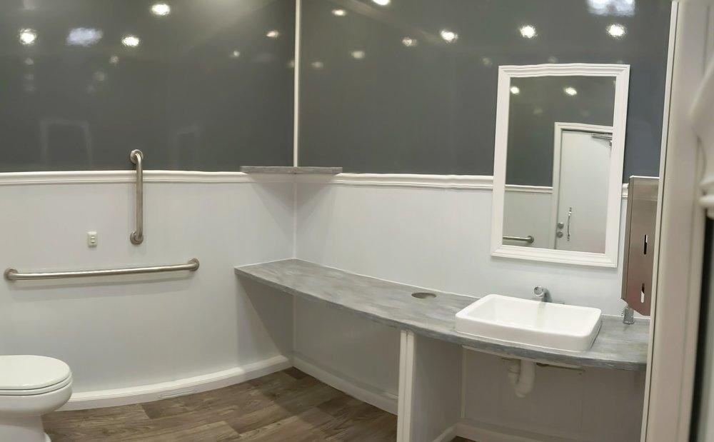 Shower and Restroom Trailer Rentals restroomtrailerinterior - Better Restrooms = Better Business