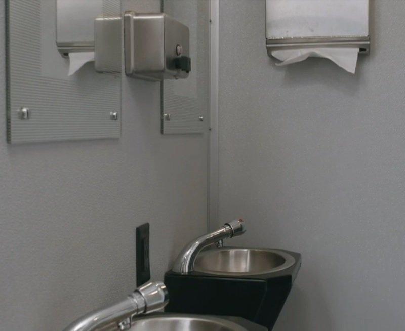Shower and Restroom Trailer Rentals Shower Trailer Sinks - Shower Trailer FAQ