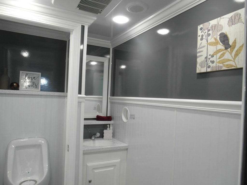 Shower and Restroom Trailer Rentals restroom taste of home interior 1024x768 - Why you'll feel good renting a restroom trailer for your event.