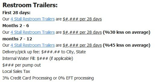Shower and Restroom Trailer Rentals restroom trailer quote longterm - Long Term Portable Restroom Rentals