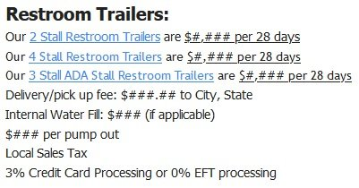 Shower and Restroom Trailer Rentals restroom trailer quote - Long Term Portable Restroom Rentals